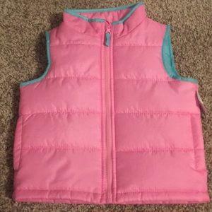 Pink puff vest lot 151